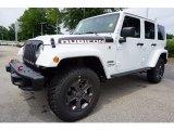 2017 Bright White Jeep Wrangler Unlimited Rubicon 4x4 #121824396