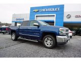 2017 Deep Ocean Blue Metallic Chevrolet Silverado 1500 LTZ Crew Cab #121824501