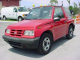 1996 Wildfire Red Geo Tracker Soft Top #12136130