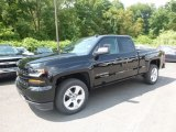 2018 Black Chevrolet Silverado 1500 Custom Double Cab 4x4 #121824435