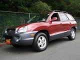 2004 Merlot Red Hyundai Santa Fe GLS 4WD #12131475