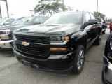2018 Black Chevrolet Silverado 1500 Custom Double Cab 4x4 #121891060