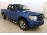 2014 Blue Flame Ford F150 STX SuperCab 4x4 #121928572