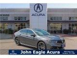2018 Modern Steel Metallic Acura TLX V6 A-Spec Sedan #122023360