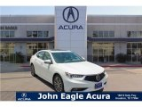 2018 Bellanova White Pearl Acura TLX V6 SH-AWD Advance Sedan #122023350