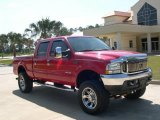 2004 Red Ford F250 Super Duty Lariat Crew Cab 4x4 #12216550