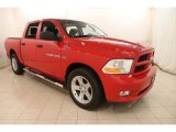 2012 Flame Red Dodge Ram 1500 Express Crew Cab 4x4 #122266977