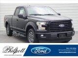 2017 Shadow Black Ford F150 XLT SuperCab #122266861