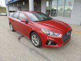 Scarlet Red Hyundai Sonata in 2018