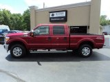 2015 Ruby Red Ford F250 Super Duty XLT Crew Cab 4x4 #122266994