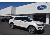 2017 White Platinum Ford Explorer Limited 4WD #122290556