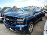 2017 Deep Ocean Blue Metallic Chevrolet Silverado 1500 LT Crew Cab 4x4 #122290679