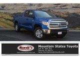 2017 Blazing Blue Pearl Toyota Tundra SR5 Double Cab 4x4 #122346142