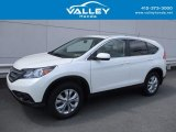 2014 White Diamond Pearl Honda CR-V EX AWD #122369427