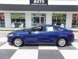2016 Deep Impact Blue Metallic Ford Fusion S #122369650