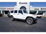 2017 Bright White Jeep Wrangler Unlimited Sahara 4x4 #122369589