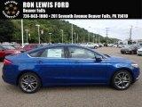 2017 Lightning Blue Ford Fusion SE #122479832
