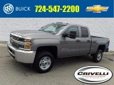 2017 Pepperdust Metallic Chevrolet Silverado 2500HD Work Truck Double Cab 4x4 #122498970
