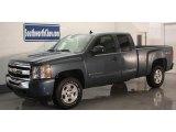 2009 Blue Granite Metallic Chevrolet Silverado 1500 LT Extended Cab 4x4 #12244547