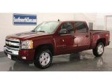 2009 Deep Ruby Red Metallic Chevrolet Silverado 1500 LT Crew Cab 4x4 #12244550
