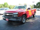 2006 Victory Red Chevrolet Silverado 1500 LS Regular Cab #12244500