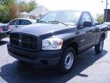 2008 Brilliant Black Crystal Pearl Dodge Ram 1500 ST Regular Cab #12238402