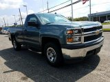 2014 Blue Granite Metallic Chevrolet Silverado 1500 WT Regular Cab 4x4 #122521376