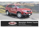 2011 Spicy Red Kia Sorento LX #122559359