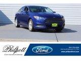 2015 Deep Impact Blue Metallic Ford Fusion SE #122559422