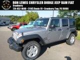2017 Billet Silver Metallic Jeep Wrangler Unlimited Sport 4x4 #122572306