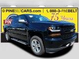 2018 Black Chevrolet Silverado 1500 Custom Crew Cab 4x4 #122572270