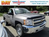 2013 Graystone Metallic Chevrolet Silverado 1500 Work Truck Regular Cab 4x4 #122646194