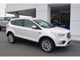 2017 White Platinum Ford Escape Titanium #122742195