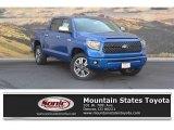 2018 Blazing Blue Pearl Toyota Tundra Platinum CrewMax 4x4 #122742067