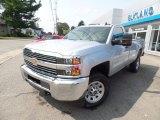 2017 Silver Ice Metallic Chevrolet Silverado 2500HD Work Truck Regular Cab 4x4 #122796023