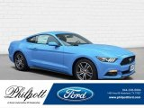 2017 Grabber Blue Ford Mustang Ecoboost Coupe #122796118