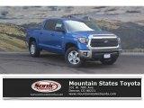 2018 Blazing Blue Pearl Toyota Tundra SR5 CrewMax 4x4 #122852286