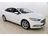 2017 Oxford White Ford Fusion Hybrid SE #122852628