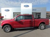 2015 Ruby Red Metallic Ford F150 Lariat SuperCrew 4x4 #122852684