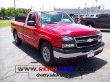 2006 Victory Red Chevrolet Silverado 1500 Work Truck Regular Cab #12277443