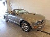 2005 Mineral Grey Metallic Ford Mustang V6 Premium Convertible #122878800