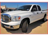 2008 Bright White Dodge Ram 1500 Lone Star Edition Quad Cab #12273701