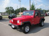 2006 Flame Red Jeep Wrangler X 4x4 #12273812