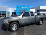 2011 Steel Green Metallic Chevrolet Silverado 1500 LS Extended Cab 4x4 #123064484