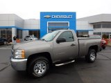 2013 Graystone Metallic Chevrolet Silverado 1500 Work Truck Regular Cab 4x4 #123130397