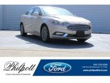 2017 White Gold Ford Fusion SE #123154523