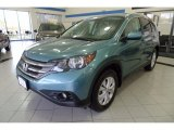 2014 Mountain Air Metallic Honda CR-V EX-L AWD #123234446