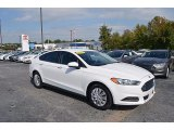 2013 Oxford White Ford Fusion S #123255798