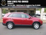 2011 Spicy Red Kia Sorento LX AWD #123255767
