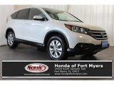 2014 White Diamond Pearl Honda CR-V EX AWD #123389662